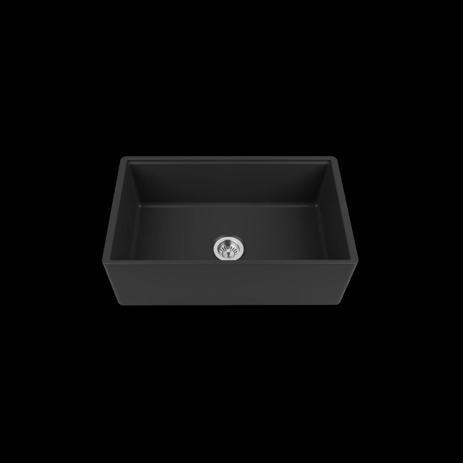 High-quality sink Louis Le Grand I black - single bowl, ceramic - 2