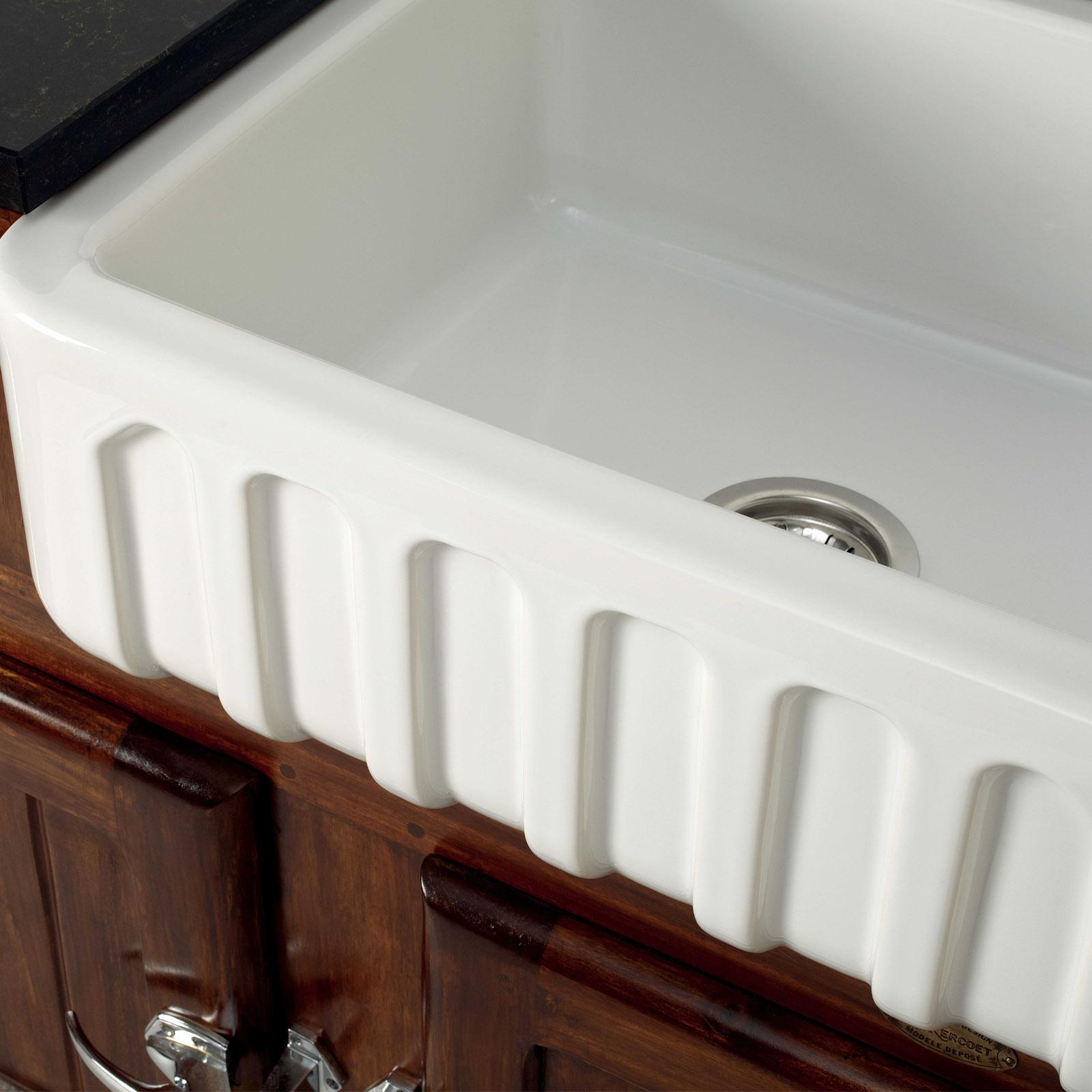 High-quality sink Louis I - single bowl, ceramic - ambience 1