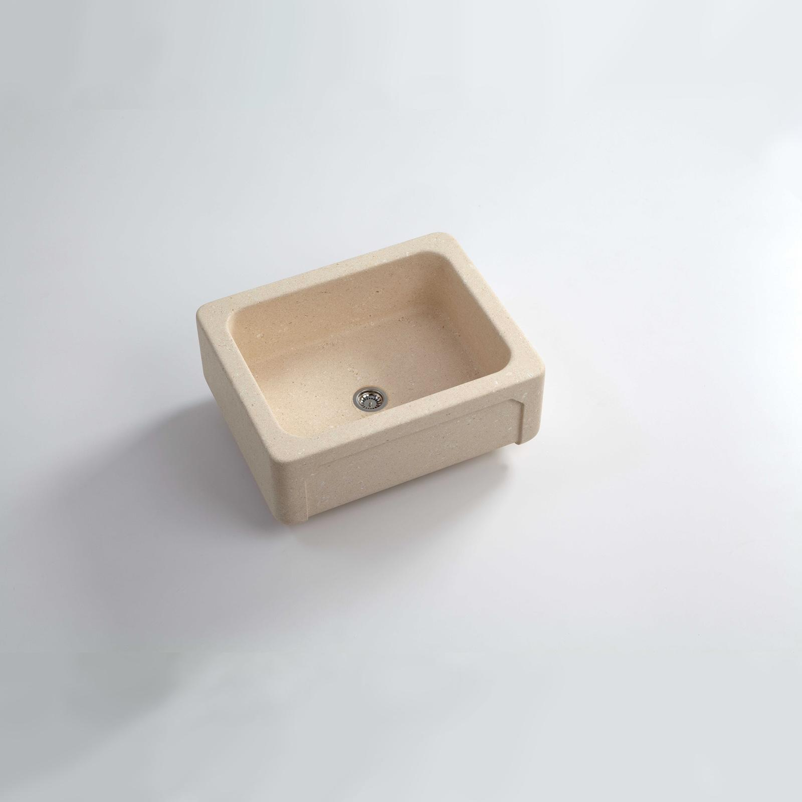 High-quality sink Childéric III - single bowl, vicenza stone