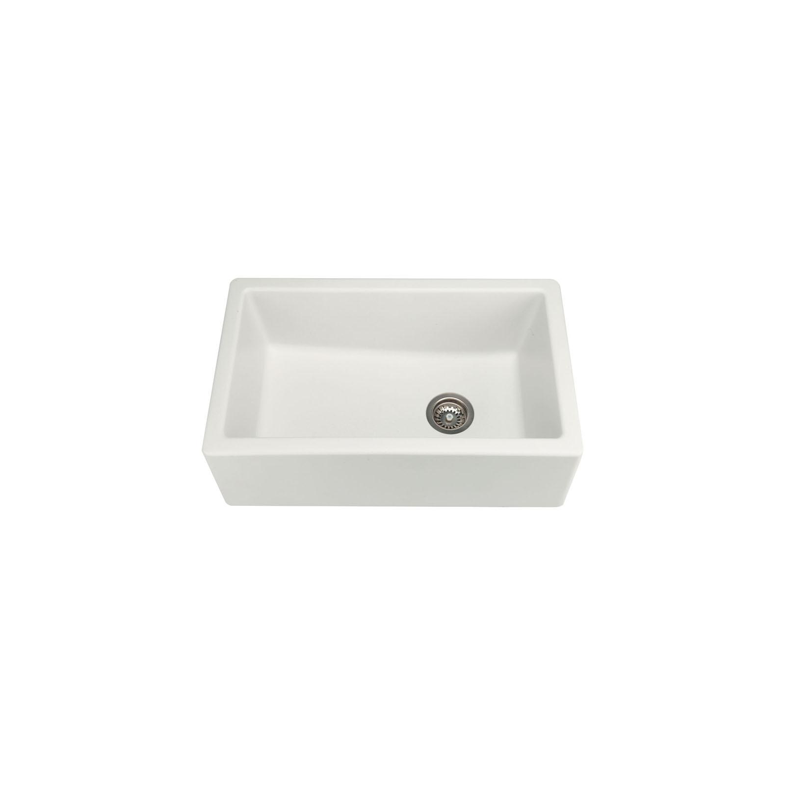High-quality sink Philippe II granit white - one bowl