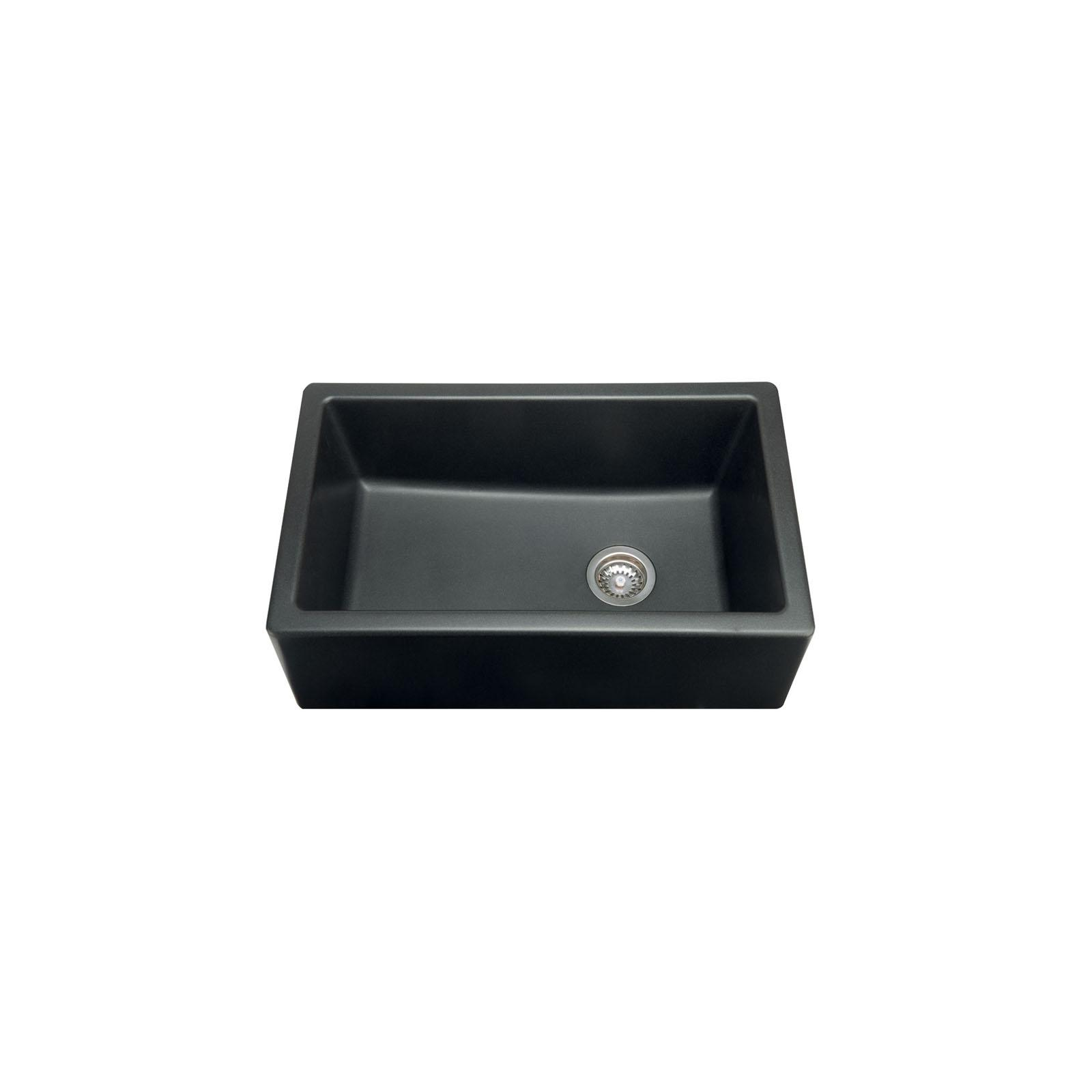 High-quality sink Philippe II granit black - one bowl