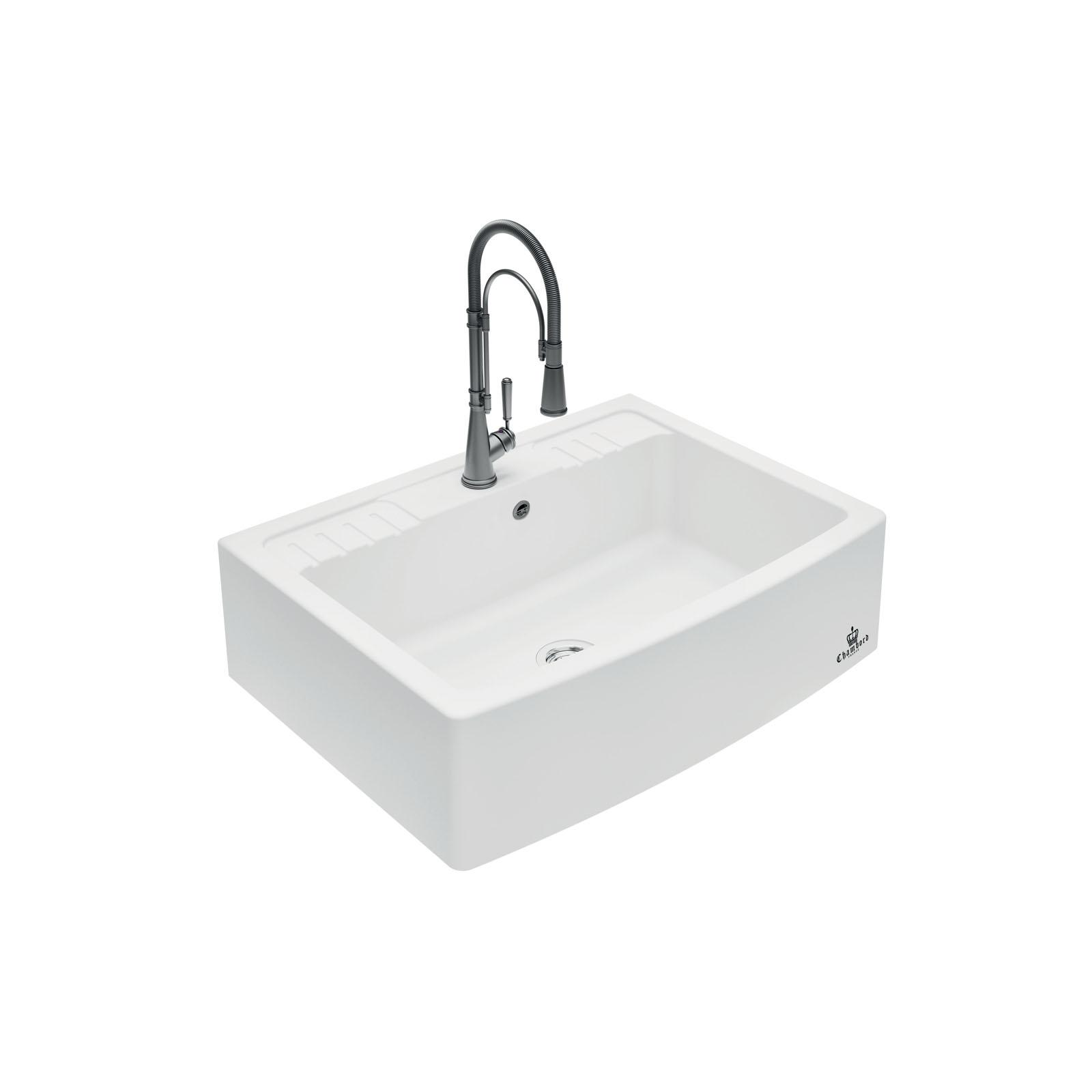 High-quality sink Clotaire IV granit white - one bowl