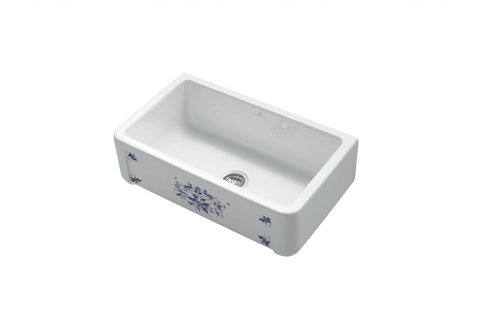 High-quality sink Henri II Le Grand Moustiers - single bowl, ceramic ambience