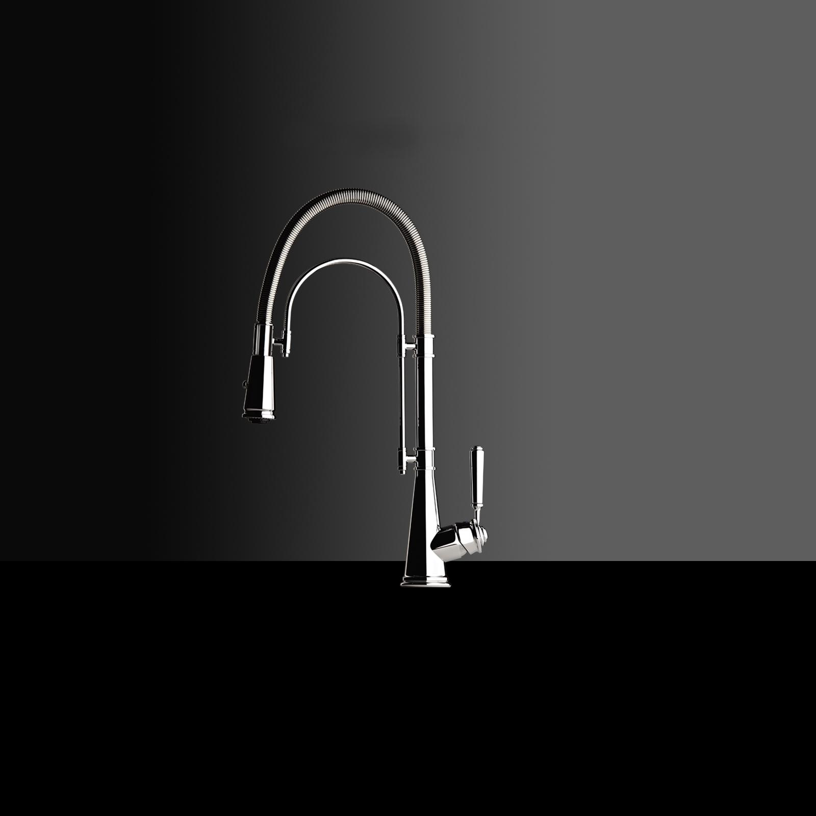 High-quality single lever tap Blaise - pull out spray - Chrome