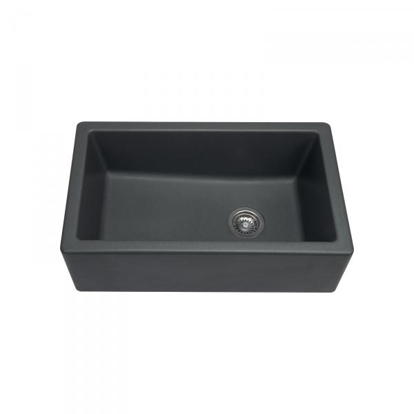 High-quality sink Philippe II granit gray titanium - one bowl