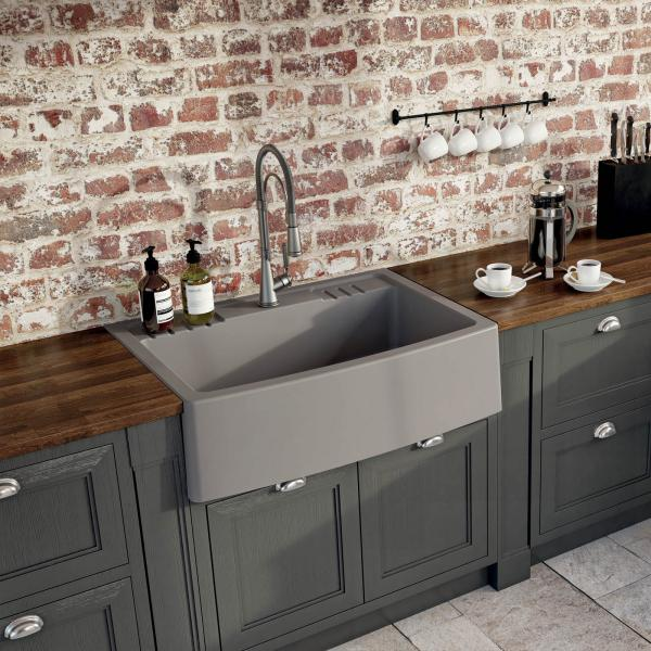 High-quality sink Clotaire IV granit titanium - one bowl - ambience